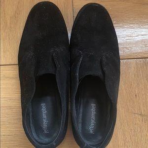 JEFFERY CAMPBELL Tarryton Black Suede Loafers